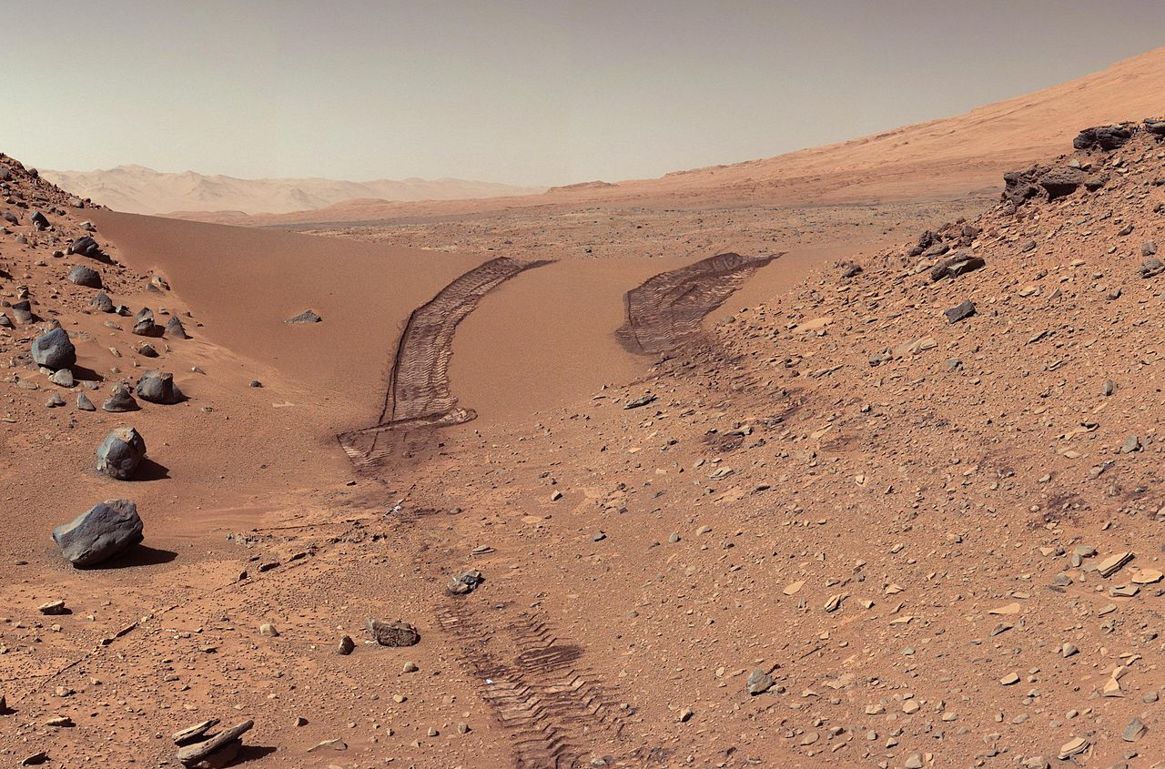 Mars surface view